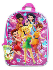 "Backpack 14.5"" Disney Tinkerbell Fairy Friends Purple Aqua New"