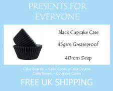100 X Negro Cupcake / Muffin Torta casos