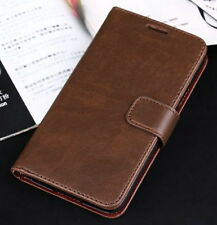 Brown Genuine Leather Business Wallet Case Cover Stand for Samsung Galaxy S5