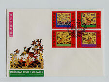 "MACAU 1996 - ""Civil & Military Emblems""  Scott # 834-837a   FDC"