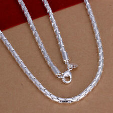 XMAS wholesale free ship sterling solid silver chic chain necklace YN721+box