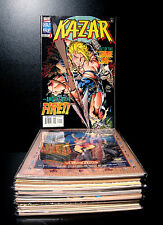 COMICS: Marvel: Kazar # 1-17 set (1990s) - RARE (mark waid/x-men/thanos/hulk)