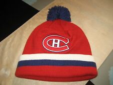 MONTREAL CANADIENS HABS Mitchell & Ness Winter BEANIE POM CUFFED HAT NWT