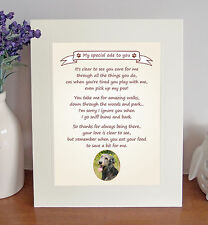 """Irish Wolfhound 10"""" x 8"""" Thank You Poem Fun Novelty Gift FROM THE DOG"""