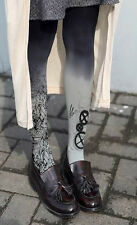 Ladies Steampunk Mechanical Cogs Gradient Design Tights Pantyhose  Regular Size