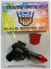 Vintage TRANSFORMERS GUN & BADGE Set (1984) HASBRO TOYS