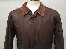 VTG LL BEAN TIROLER LODEN WAXED COTTON JACKET COAT MEN SZ L DISTRESSED CORDUROY