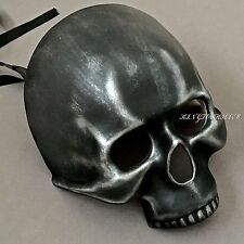 Black Silver Skull Face Halloween Ball Prom Costume Masquerade Mask