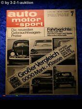 AMS Auto Motor Sport 7/65 Fiat 850 Coupe + Spider Mini Cooper VW 1200