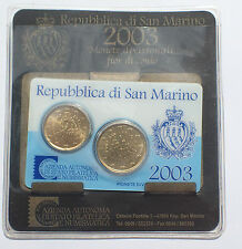 KIT BU 20 + 50 CENT SAN MARINO  (2420J)