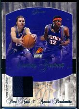 2004-05 Flair Courting Greatness Steve Nash w/ Stoudemire Jersey Relic #003/150
