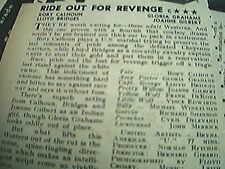 newspaper cutting advert 1956 film review ride out for revenge calhoun