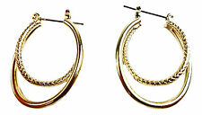 ELEGANT GOLDEN HOOP INSPIRED CLASSIC THEME EARRINGS EVENING WEAR UNQIUE(ZX11)