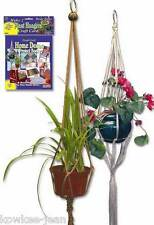Macrame plant hangers kit, plus rugmaking knit crochet    #156.  Makes 2 hangers