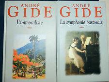 ANDRE GIDE L' IMMORALISTE LA SYMPHONIE PASTORALE
