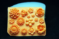 Silicone Mold Fondant Chocolate Clay Soap Mould Melting Wax Resin,Small Flower#2