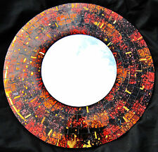 "Mosaic Glass 16"" wall mount Mirror ""Autumn Sunset"" home decor 970"