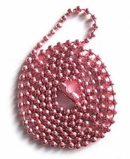 "PINK COLOR 24"" BALL CHAIN #3 NECKLACE"