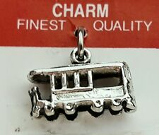 Silver Tone 3-D STREET CAR CHARM NEW Pendant Cable Trolley, Cable Car Museum
