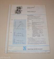Typenblatt / Technische Daten Sachs-Stamo 75 - Stand 1968!