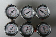 """Noshok Liquid Filled Pressure Gauge (Lots of 6) with 1/4"""" fittings"""