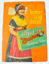 1920s Germany German ALLSAT ZINSSER FOREVER YOUNG Apotheca Pharmacy Cure Poster