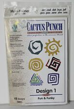 New Sealed Cactus Punch Embroidery Card CD Multi Format Fun Funky Design 1 Sew