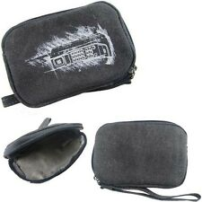 Grey Canvas Camera  Case for Canon PowerShot ELPH320 SX160 Digital Camera