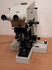 CARL ZEISS JENA JENAPOL UNIVERSAL  POL POLARISING  MICROSCOPE (without stage)