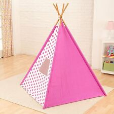 Kidkraft Teepee Polka-Dot Canvas Cover In Pink For Children Ages 3 And Up 00218