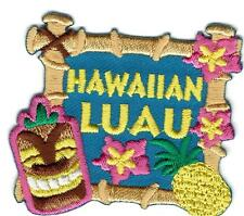 girl boy cub HAWAIIAN LUAU Sign Patches Crests badges SCOUTS GUIDES Party Event