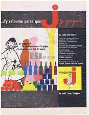 PUBLICITE ADVERTISING 104 1960 MAGASIN 'J' le voilà mon magasin J'y gagne