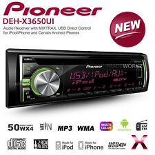 PIONEER DEH-X3650UI 50Wx4 Car Headunit CD USB AUX WMA MP3 FM Radio Stereo Player