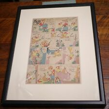 1935 Vintage Dr Seuss HEJJI Early Newspaper Cartoon Strip Original FRAMED