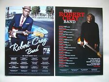 """ROBERT CRAY BAND """"Nothing but Love"""" 2013 & 2015 UK Tours. Promo tour flyers x 2"""