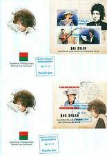 Bob Dylan Music Nobel Prize Winner Literature Madagascar first day covers set