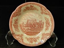"Johnson Bros Old Britain Castles Pink Berry Bowl 5"" England Crown Stamp NICE!"