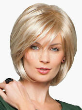 100% Real Hair! Stylish Women Blonde Short Natural Straight Wig Real Hair