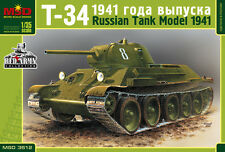 MSD 3512 RUSSIAN TANK T-34 MODEL 1941 SCALE MODEL KIT 1/35 NEW