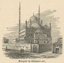 C8120 Egypt - Cairo - Mosque of Mohammed Ali - Stampa antica - 1892 Engraving