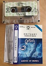 OBITUARY - Cause of death MC 1991 RARE 1'ST POLISH PRESS
