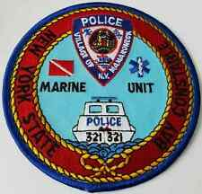 New York State Bay Constable Marine Unit Cloth Patch