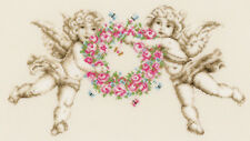 Vervaco counted cross stitch kit anges avec floral wreath PN-0150072