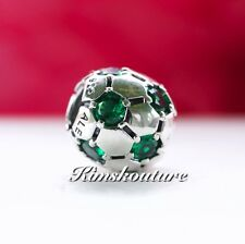 Authentic Pandora Charm Soccer Ball Green CZ #790444CZN *Retired* Expedited
