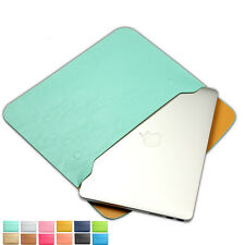 "Leather Magnet Buckle Laptop Sleeve Case Cover Macbook Air 13"" Sky Blue Color"