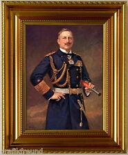 Kaiser Wilhelm II in Admiralsuniform, fertig eingerahmt in Luxusrahmen