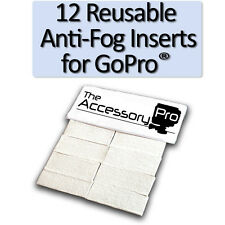 12 Anti-Fog Inserts  compatible with all GoPro® cameras - LIFETIME SUPPLY