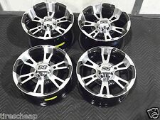 "14"" POLARIS RZR ALUMINUM ATV WHEELS SET 4 LIFE WARRANTY ITP SS112 POL3CA"