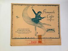 Easter 1950 Promenade Cafes English Grill Menu Rockefeller Plaza New York