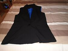 size 12 black new look hip length waist coat worn once